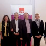 v. l. n. r Jürgen Leue,  Marion Hoffmann, Rudi Kujath, Stefan Komoß, Liane Ollech ,  Enrico Stölzel.